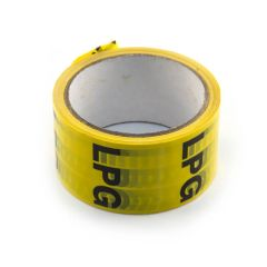 LPG Pipe Identification Tape - 50mm x 33m