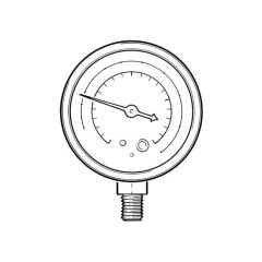 M2-250-DS-R22 Pressure Gauge -1 up to +10 bar