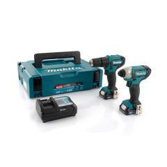 Makita Cordless Combi Drill & Impact Driver Kit 12V