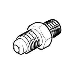 "Male Adaptor, Brass, 1/4"" flare x 1/8"" NPT"