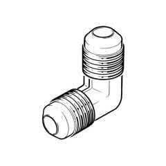 Male Flare Elbow - 8mm