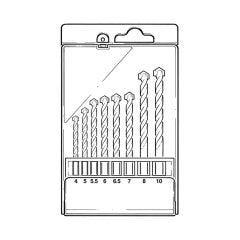 Masonary Drill Bit Set - 8 Pieces