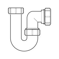 "McAlpine P Swivel Trap - 1.1/2""/40mm"
