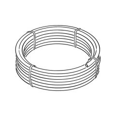 HPPE Black Mains Water Pipe - 25mm x 25m