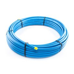 MDPE Blue Mains Water Pipe - 25mm x 100m