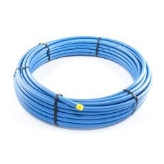 MDPE Blue Mains Water Pipe - 63mm x 25m