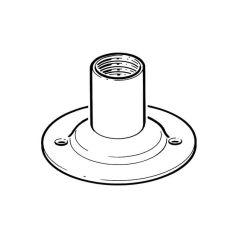 Metal Conduit Dome Cover Galvanised Steel - 20mm