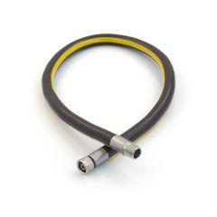 Micropoint Straight Plug-In Bayonet Gas Hose - 1250mm