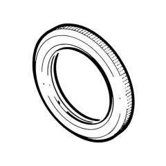 Conduit Lock Ring Milled Edge Galvanised Steel - 20mm