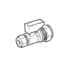 Mini Gas Ball Valve - 10mm x 8mm Compression