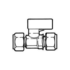 Mini Gas Ball Valve - 8mm Compression