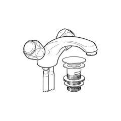 Mono Basin Mixer Tap w/ Pop-up Waste & Copper Tails