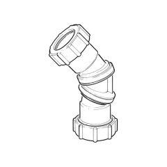 Multi-Fit Waste Bend - 32mm Grey