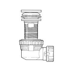 """Nano 6.7 Quick Clac Basin Waste Trap - 1.1/4""""/32mm"""