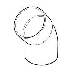 Offset Bend Bottom, Solvent Weld Socket x Spigot - 135° x 110mm Olive Grey