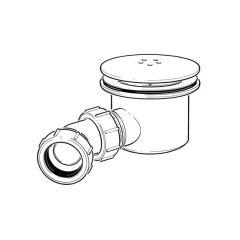 "Opella Shower Waste Trap 115mm dia. - 1.1/2""/40mm"