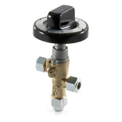 PEL20S Safety Gas Control Cock with Black Knob - 10mm