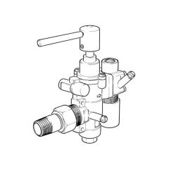 PEL23S Safety Gas Control Cock with Lever Handle 20mm