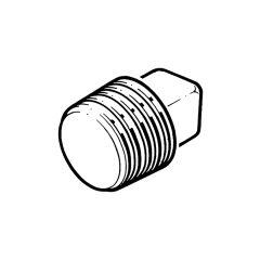 """Plain Plug - 1/8"""" Galvanised"""