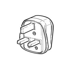 Plug Top - 3 Pin, 3A Fuse Fitted, White