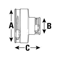 Plumbing Adaptor - 100 to 115mm x 45 - 50mm
