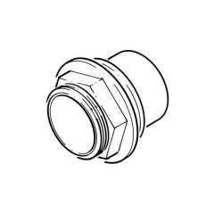 Solvent Weld Tank Connector - 32mm Grey