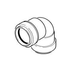 Push-fit Knuckle Bend - 90° x 32mm Black
