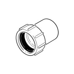 Solvent Weld Expansion Coupling - 40mm White
