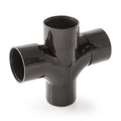 Solvent Weld Cross Tee - 92.1/2° x 50mm Black