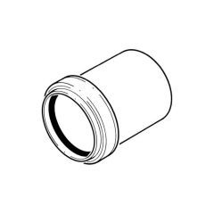 Solvent Weld Expansion Coupling - 50mm White