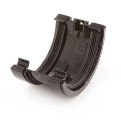 Half Round Gutter Union Bracket - 150 mm - Black