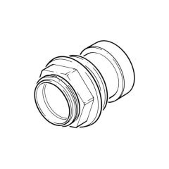 Push-fit Tank Connector - 40mm Grey