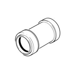 Push-fit Straight Coupling - 40mm White