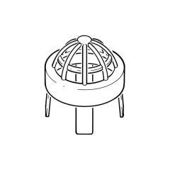 Push-fit Vent Terminal - 50mm Grey