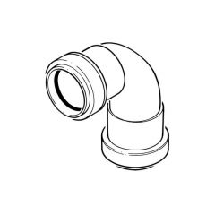 Push-fit Swept Bend - 91.1/4° x 50mm Grey