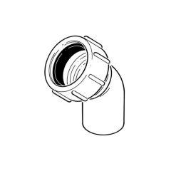 Universal Swivel Bend - 45° x 32mm White
