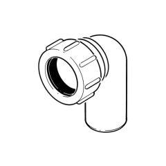 Universal Swivel Elbow - 90° x 32mm White