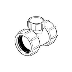 Universal Coupler with Cleaning Eye - 40mm White
