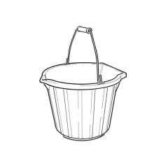 Pour & scoop bucket 14 Litre - Black