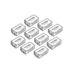 Duracell PP3 9V Alkaline Batteries - Pack of 10
