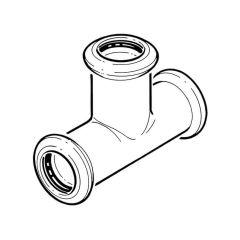 Press-fit Water Equal Tee - 22mm