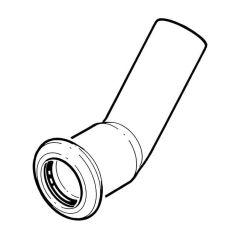 Press-fit Water Obtuse Street 45° Elbow - 28mm