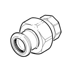 """Press-fit Water Union Connector - 22mm x 3/4"""" BSP F"""