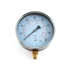 "Pressure Gauge - 0 to 11 bar, 6"" Dial"
