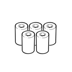 Anton Printer Paper Roll - Pack of 5