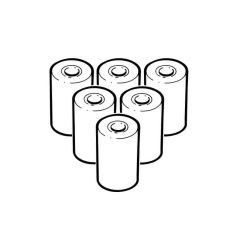Testo Printer Paper Rolls -  Pack of 6