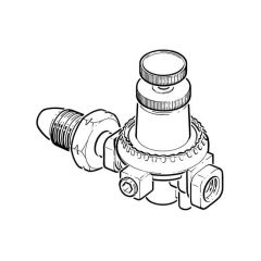 Propane High Pressure Regulator - 0.35 to 2 bar