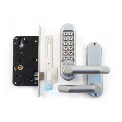 Push-button code lock, BL5000, satin chrome