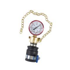 Push-on Water Pressure Gauge - 0 to 25 bar