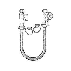 Remote Filling Loop with Gauge - 15mm Compression